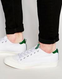 Белые парусиновые кеды на шнуровке со вставкой на носке и язычке ASOS