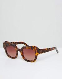 Солнцезащитные очки в оправе ручной работы ASOS Premium - Коричневый