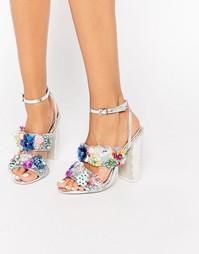 Декорированные сандалии на каблуке ASOS SALON HEROISM - Мульти