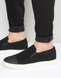 Черные кеды‑слипоны со вставкой на носке ASOS - Черный