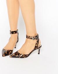 Туфли на каблуке с острым носком ASOS SEEKER - Черепаховый