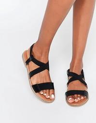 Эластичные сандалии Selected Femme Saskia - Черный