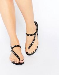 Черные сандалии с асимметричным дизайном ALDO Yadoma - Черная кожа
