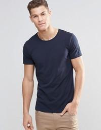 Темно-синяя футболка с круглым вырезом Boss Orange - Темно-синий