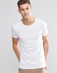 Белая футболка с круглым вырезом Boss Orange - Белый