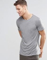 Серая футболка с круглым вырезом Boss Orange - Серый