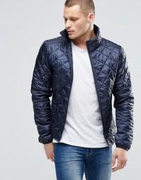 Стеганая нейлоновая куртка синего оттенка Blend - Темно-синий