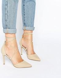 Туфли с заостренным носком и шнуровкой Call It Spring Argaine - Bone
