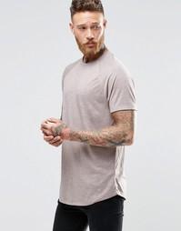 Фактурная удлиненная футболка с закругленным низом ASOS