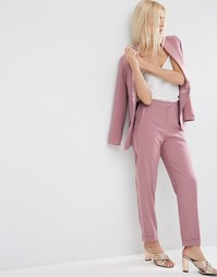 Летние брюки под смокинг ASOS - Сумеречно-розовый