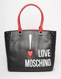 Сумка-шоппер с логотипом Love Moschino