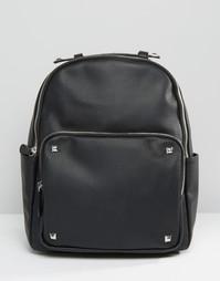 Рюкзак с заклепками на кармане Pieces - Черный