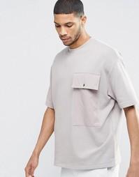 Oversize-свитшот с короткими рукавами и большими ткаными карманами ASO Asos