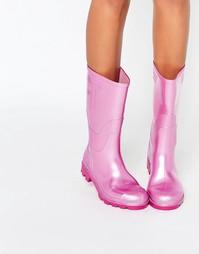 Розовые резиновые сапоги JuJu - Pink pearl