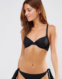 Черный универсальный бикини-топ на косточках Pour Moi - Черный