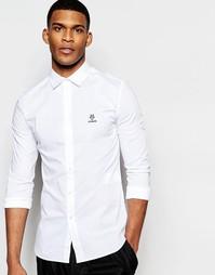 Классическая рубашка с логотипом Love Moschino - Белый