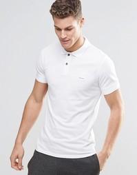 Белая футболка-поло слим с логотипом BOSS Orange - Белый