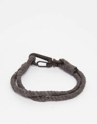 Серый браслет-веревочка ASOS - Серый