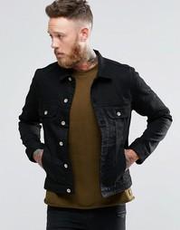 Черная джинсовая куртка Paul Smith - Черный