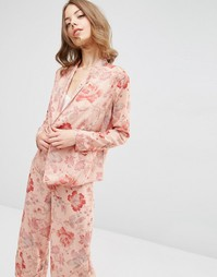 Пижамная блузка с запахом и цветочным принтом ASOS Co Ord - Мульти