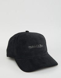 Замшевая бейсболка Mitchell & Ness Chicago Bulls - Черный
