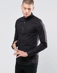 Стретчевая рубашка скинни с воротником на пуговицах Only & Sons