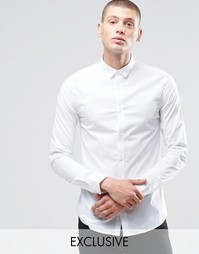 Стретчевая рубашка скинни Only & Sons - Белый