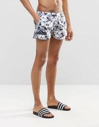 Короткие шорты для плавания с камуфляжным принтом Heist - Серый