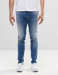 Светлые джинсы скинни Diesel Sleenker 852V - Светлый