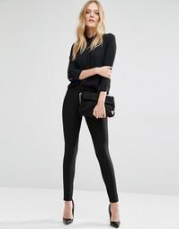 Суперзауженные брюки в тонкую полоску Y.A.S Penno - Черный в полоску