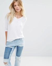 Удлиненная футболка свободного кроя Noisy May - Снежно-белый