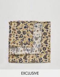 Коричневый платок для пиджака с цветочным принтом Reclaimed Vintage