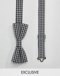Черный галстук-бабочка в клетку Reclaimed Vintage - Черный