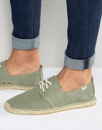 Эспадрильи на шнуровке Soludos - Зеленый