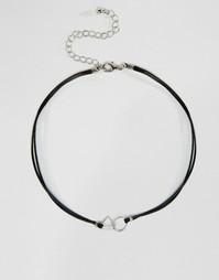 Ожерелье-чокер с подвесками ASOS - Родий