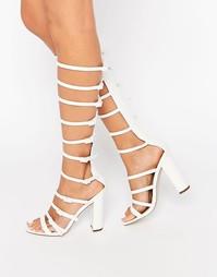 Босоножки на каблуке ASOS HOTFOOT - Белый
