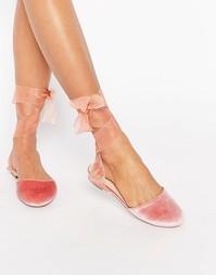 Балетки ASOS LAUREL - Розовый бархат