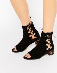 Сандалии-ботинки на шнуровке ASOS APOSTROPHE - Черный