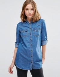 Джинсовая рубашка JDY - Светло-голубой