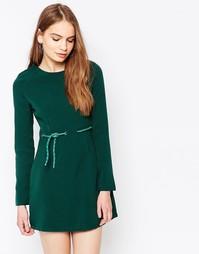 Платье с завязкой на поясе Daisy Street - Зеленый