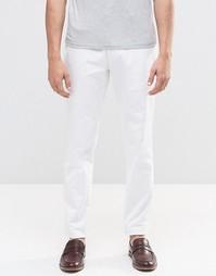 Строгие зауженные брюки чиносы белого цвета ASOS - Белый
