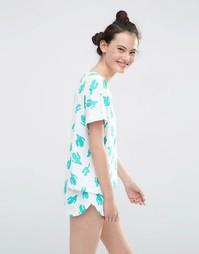Пижамный комплект с футболкой и шортами ASOS - Мульти