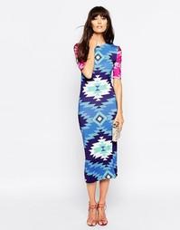 Платье миди с геометрическим принтом House of Holland - Синий