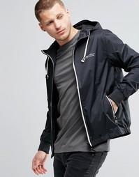 Черная нейлоновая куртка с капюшоном Blend - Черный