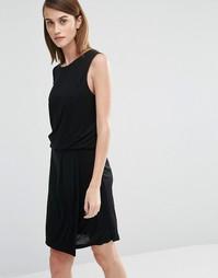 Трикотажное платье без рукавов Selected Brenda - Черный