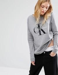 Свитшот с логотипом Calvin Klein Jeans - Светло-серый