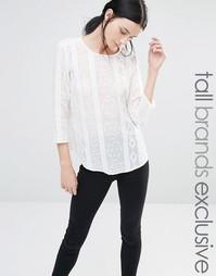 Блузка с отделкой Y.A.S Tall Coco - Белый