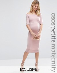 Платье для беременных с укороченными рукавами ASOS Maternity PETITE