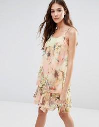Платье с цветочным принтом Lavand - Желтый