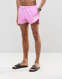 Розовые короткие шорты для плавания Abuze London - Розовый